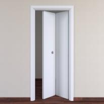 Porta da interno pieghevole Pearl bianco 80 x H 210 cm dx