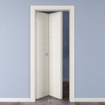 Porta da interno pieghevole Star Bianco Matrix 70 x H 210 cm sx