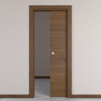 Porta da interno scorrevole Stenophylla cacao 70 x H 210 cm reversibile