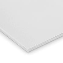 Lastra gomma crepla bianco 100 x 100  mm, spessore 10 mm