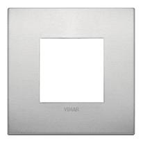 Placca 2 moduli Vimar Arké alluminio naturale