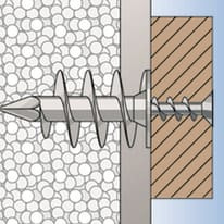 2 tasselli Fischer FID ø 25 x 90  mm