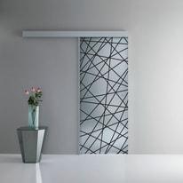 Porta da interno scorrevole Perseide/binario kit A 86 x H 215 cm reversibile