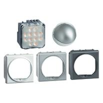 Torcia emergenza a LED BTicino Lampada orientabile 360° varianti colore  bianco, tech,antracite