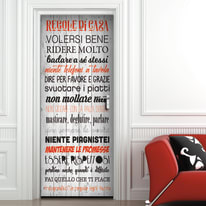 Sticker Door cover Regole casa