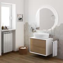 Mobile bagno Bellagio rovere L 70 cm