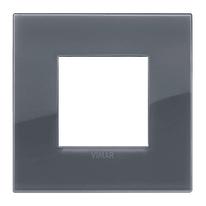 Placca 2 moduli Vimar Arké grigio fumè