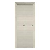 Porta da interno pieghevole Time ecrù 80 x H 210 cm reversibile