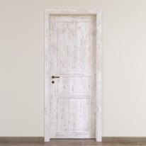 Porta da interno battente Old Town bianco sbiancato 70 x H 210 cm reversibile