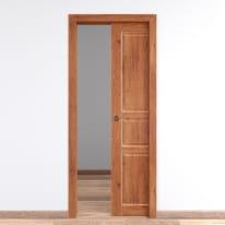 Porta da interno scorrevole Old Town teak sbiancato 80 x H 210 cm reversibile