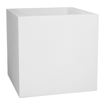 Vaso Kube Gloss 30 x 30 cm bianco