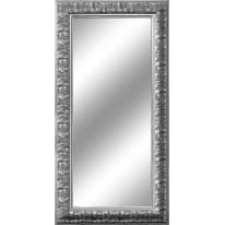 specchio da parete rettangolare Barocco argento 65 x 165 cm