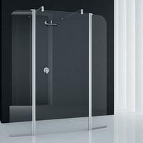 Doccia walk-in Twist 4 100, H 195 cm cristallo 6 mm trasparente/silver