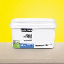 Idropittura lavabile Mano unica Giallo Anice 4 - 2,5 L Luxens