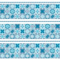 Tenda doccia Cementine blu L 180 x H 200 cm