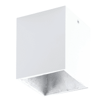 Plafoniera Polasso bianco L 10 x H 10 cm