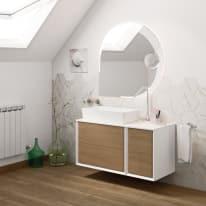 Mobile bagno Bellagio rovere L 195 cm