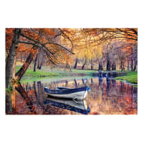 quadro su tela Barchetta fiume 95x145