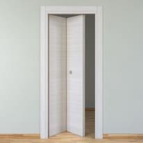 Porta da interno pieghevole Pigalle palissandro bianco 80 x H 210 cm sx