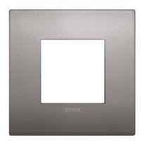 Placca 2 moduli Vimar Arké nichel nero