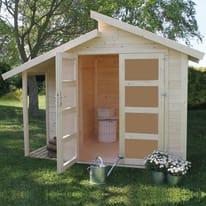 casetta in legno grezzo Amstall 3,92 m², spessore 19 mm