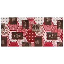Tappetino cucina antiscivolo Full love rosso 55 x 230 cm