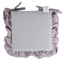 Cuscino per sedia sfoderabile double face Country grigio 40 x 40 cm