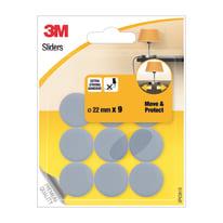9 pattini adesivi Ø 22 mm