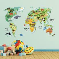 Wallstickers XL World map