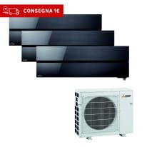 Climatizzatore fisso inverter trialsplit Mitsubishi LN 9000 + 9000 + 12000 BTU classe A+++ nero