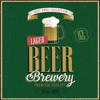 quadro su tela Beer brewery 40x40