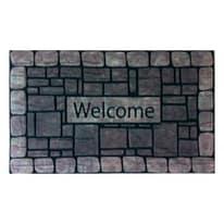 Zerbino zerbin'eco welcome grigio 45 x 75 cm