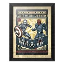 Stampa incorniciata Marvel Captain America 34,8 x 44,8 cm