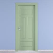 Porta da interno battente Coconut Groove verde 90 x H 210 cm dx