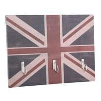 Bacheca porta chiavi Union jack 4 posti Fantasia 20 x 1 x 15 cm