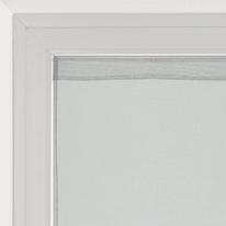 Tendina a vetro per finestra Leo grigio 45 x 120 cm