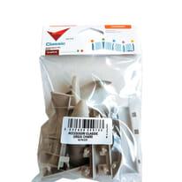 Kit accessori per battiscopa pvc 10 pz grigio chiaro