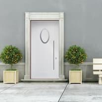 portoncino d'ingresso alluminio Modern1 bianco L 90 x H 210 sx