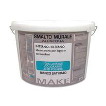 Smalto murale bianco satinato Make 9 L