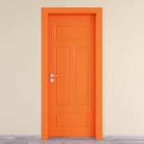 Porta da interno battente Coconut Groove arancio 60 x H 210 cm dx