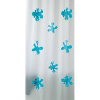 Tenda doccia Spot azzurra L 180 x H 200 cm