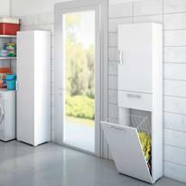 Mobile lavanderia in kit bianco L 45 x P 32 x H 195 cm