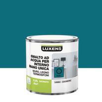 Smalto manounica Luxens all'acqua Blu Miami 1 satinato 0.5 L