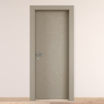 Porta da interno battente The Thing grigio 90 x H 210 cm dx