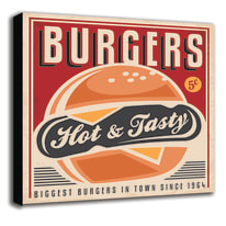quadro su tela Burgers 60x60