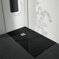 Piatto doccia acrilico Boston 90 x 70 cm nero