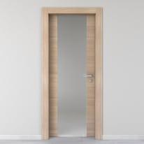 Porta da interno battente Ritz Vetro Rosa del deserto 80 x H 210 cm sx