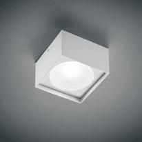 Plafoniera Cube Square 12x12 bianco L 12 x H 7,5 cm