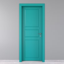 Porta da interno battente New York azzurro 80 x H 210 cm sx
