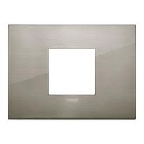 Placca 2 moduli Vimar Arké acciaio spazzolato